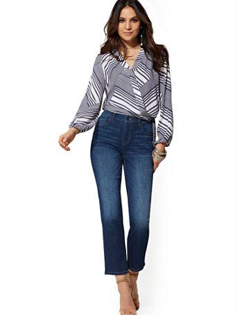 Soho Jeans   High Waist Straight Leg   Indigo by New York & Company
