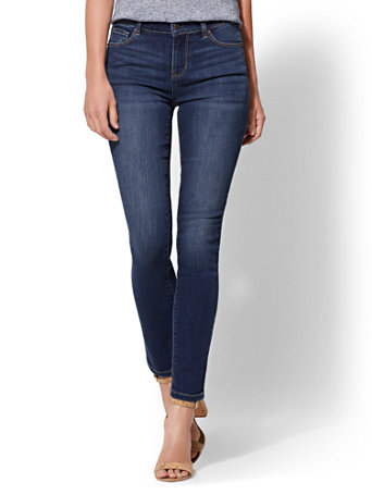 Soho Jeans   Petite High Waist Skinny   Force Blue by New York & Company