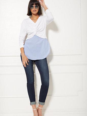 Soho Jeans   Zip Accent Boyfriend by New York & Company