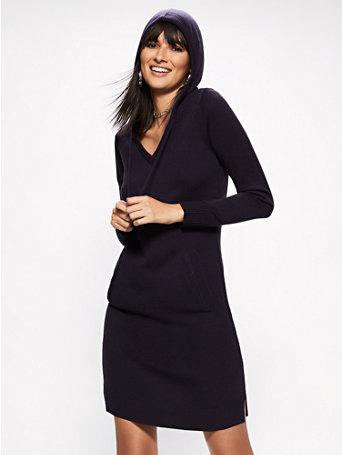Soho Street   Hooded Sweater Dress by New York & Company