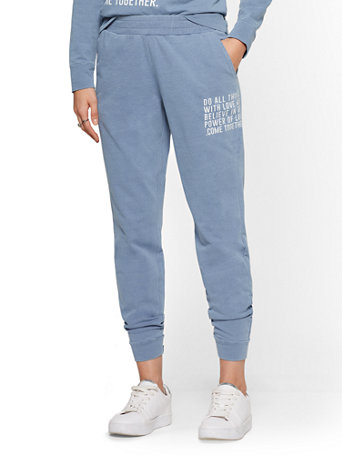 Soho Street   Jogger Pant   Indigo Wash by New York & Company