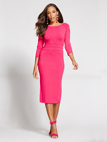 2d46966c394 NY C  Stitched Sweater Dress - Gabrielle Union Collection