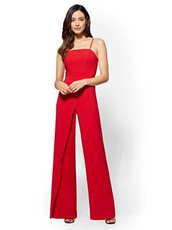 Ny Amp C Strapless Overlay Jumpsuit