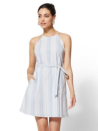 Striped Halter Dresses