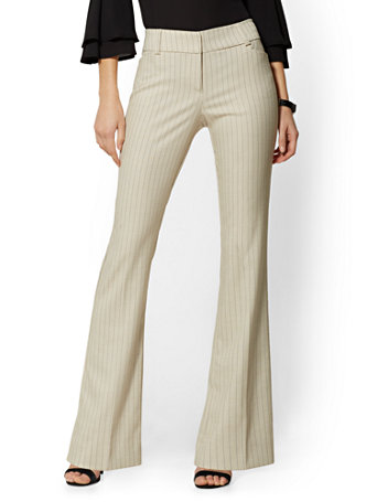 Tall Bootcut Pant   Modern Fit   Pinstripe   7th Avenue by New York & Company
