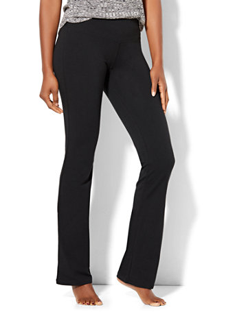 NY&Co Women's Tall Bootcut Yoga Pants Black