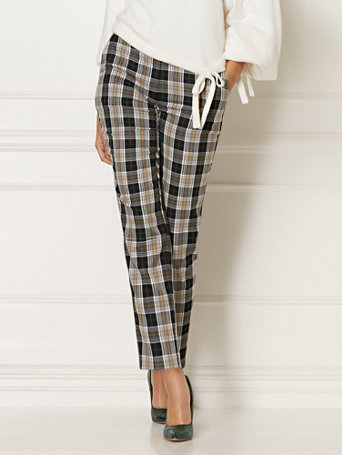 Tall Elise Plaid Pant   Eva Mendes Collection by New York & Company