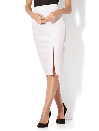 235ef8e7f387f2 NY&C: Tall Front Slit Pencil Skirt - Modern - Twill - 7th Avenue