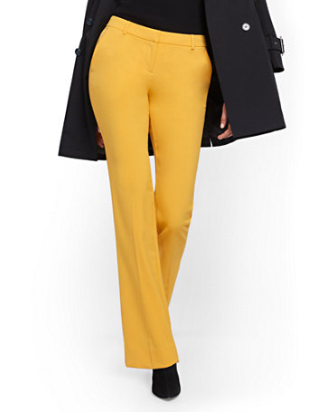 NY&Co Women's Tall Straight-Leg Pants - Modern - 7th Avenue Sunflower Garden