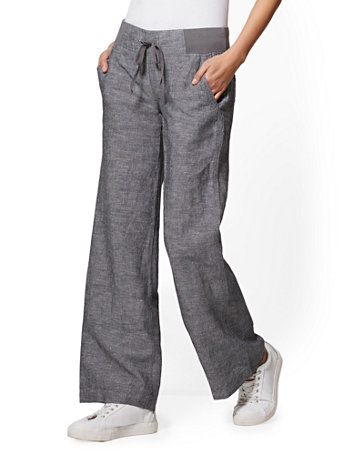 entire collection sold worldwide new cheap Tall Wide-Leg Linen Pant - Soho Street - New York & Company