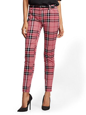 The Audrey Pant   Plaid by New York & Company