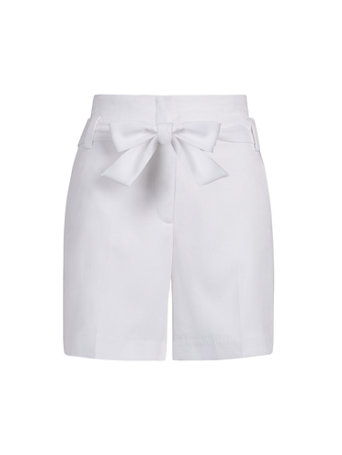 NY&Co Women's The Madie 6-Inch Tie-Waist Short White