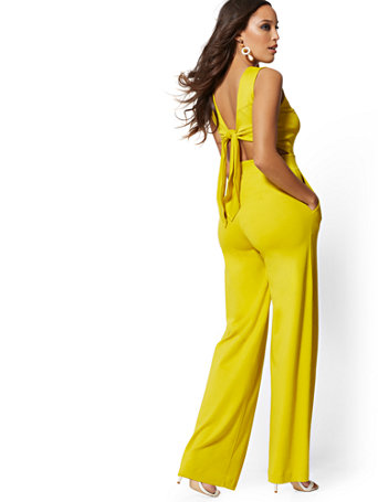 Tie Back Jumpsuit by New York & Company