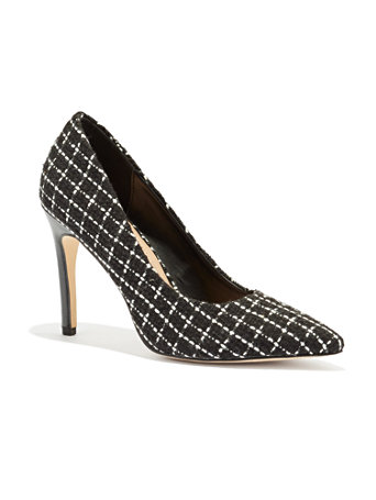 Tweed Plaid Pointed Toe Pump by New York & Company