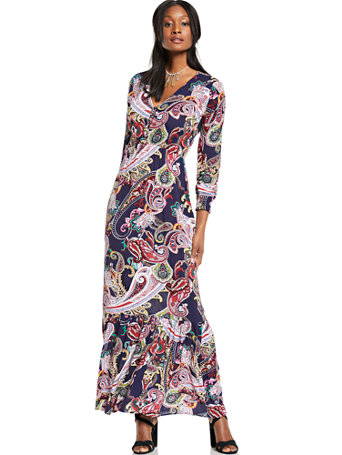 fdf6078ff5c4 NY&C: V-Neck Maxi Dress - Paisley