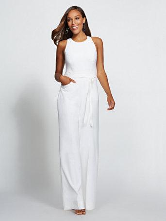 8f967748ead8 NY C  White Halter Jumpsuit - Gabrielle Union Collection