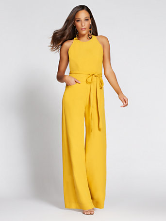 6a3b4bc9baaf NY&C: Wide-Leg Halter Jumpsuit - Gabrielle Union Collection