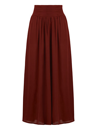 NY&Co Women's Wide-Leg Pants - Gabrielle Union Collection Rich Brown