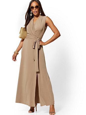 Wrap Maxi Dress   7th Avenue by New York & Company
