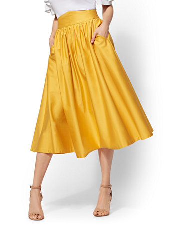 a17ecb35e4 NY&C: Yellow Full Skirt - 7th Avenue