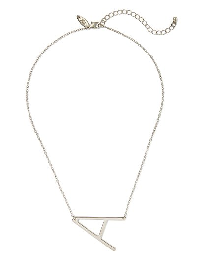 """A"" Initial Pendant Necklace - New York & Company"