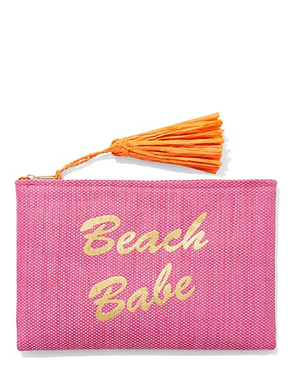 """Beach Babe"" Swimsuit Bag - NY&C Swimwear - New York & Company"