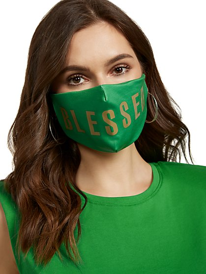 """Blessed"" Face Mask - New York & Company"