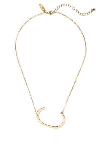 """C"" Initial Pendant Necklace - New York & Company"