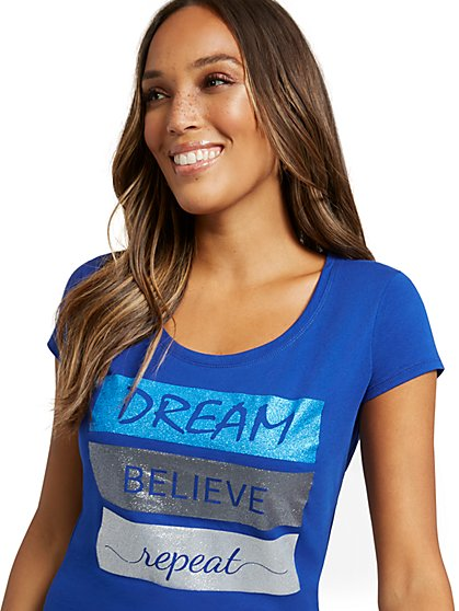 """Dream"" Graphic Tee - New York & Company"