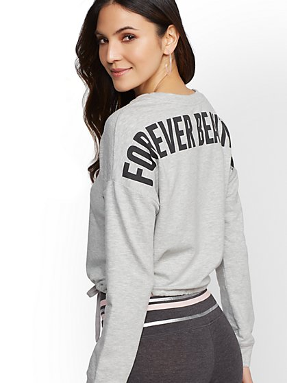 """Forever Beautiful"" Graphic Logo Sweatshirt - Soho Street - New York & Company"