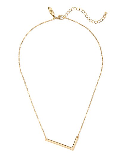 """L"" Initial Pendant Necklace - New York & Company"