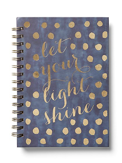 """Let Your Light Shine"" Notebook - New York & Company"