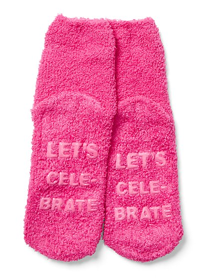 """Let's Celebrate"" Cozy Sock - New York & Company"