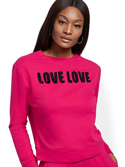 """Love"" Crewneck Sweatshirt - Soho Street - New York & Company"