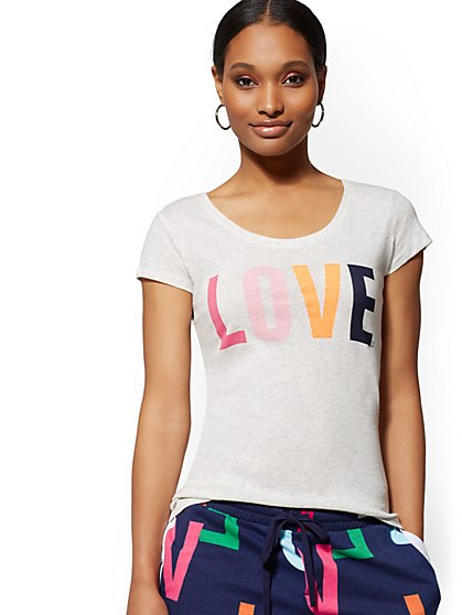 """Love"" Graphic Logo Tee - New York & Company"
