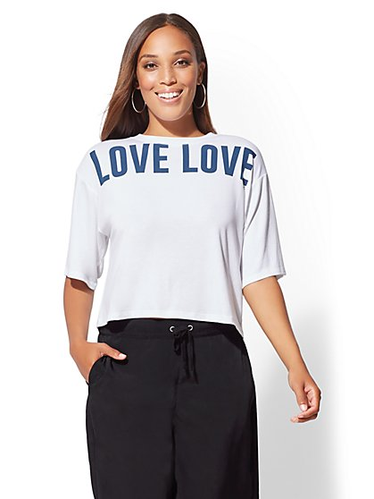 """Love Love"" Graphic Logo Tee - New York & Company"