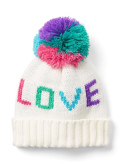 """Love"" Pom-Pom Hat - New York & Company"