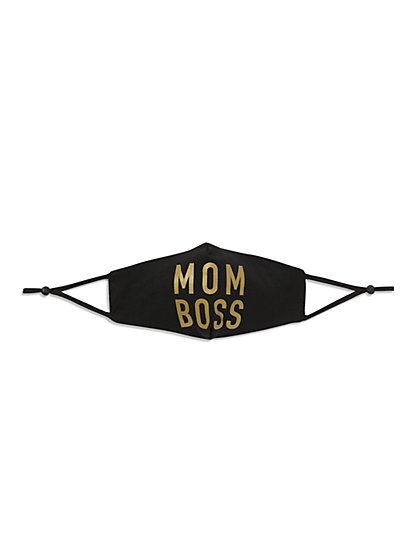 """Mom Boss"" Face Mask - New York & Company"