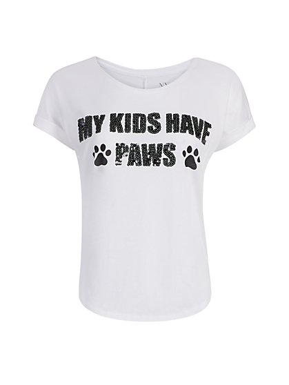 """My Kids Have Paws"" Graphic Tee - New York & Company"