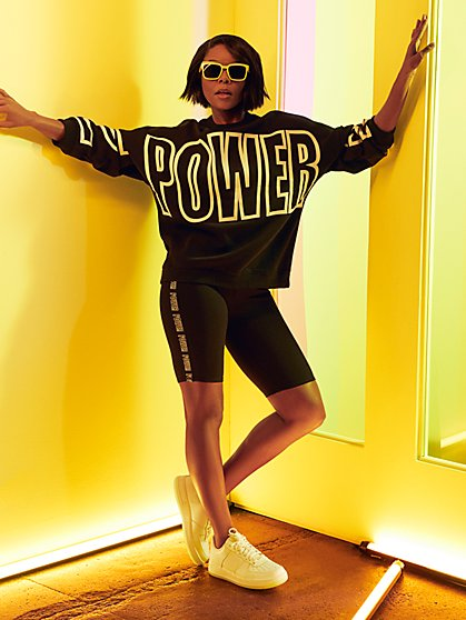 """Power"" Black Bike Short - Gabrielle Union Collection - New York & Company"