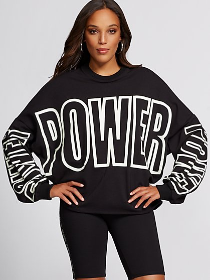 """Power"" Sweatshirt - Gabrielle Union Collection - New York & Company"