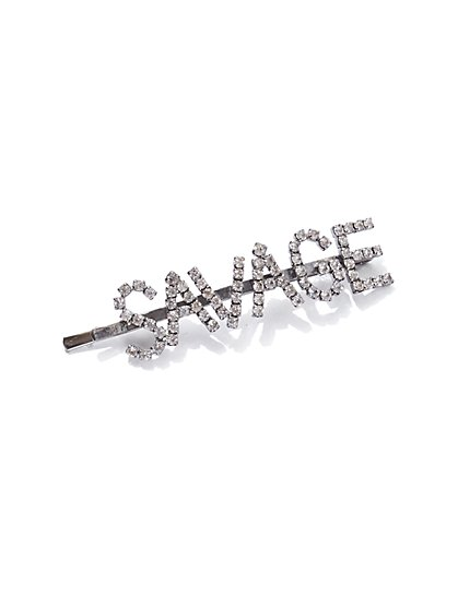 """Savage"" Faux-Stone Hair Clip - New York & Company"