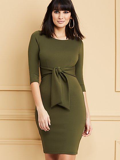 ¾-Sleeve Sheath Dress - Super Flex - New York & Company