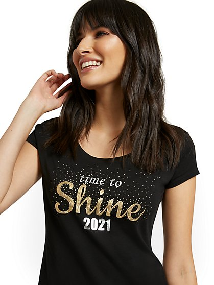 """Time To Shine 2021"" Graphic Tee - New York & Company"