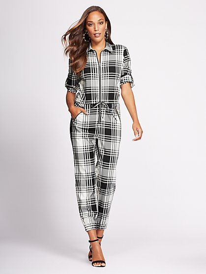129.95 3/4 PLAID JSUIT-T - New York & Company