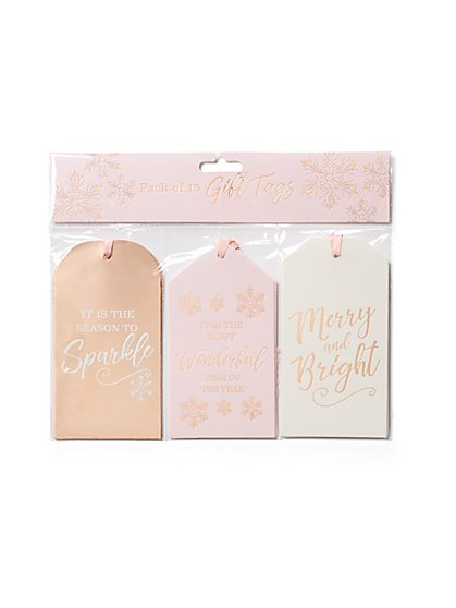 15-Piece Metallic Rose Goldtone Gift Tag Set - New York & Company