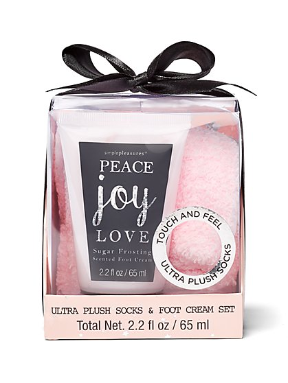 2-Piece Cozy Socks & Sugar Frosting Foot Cream Set - New York & Company