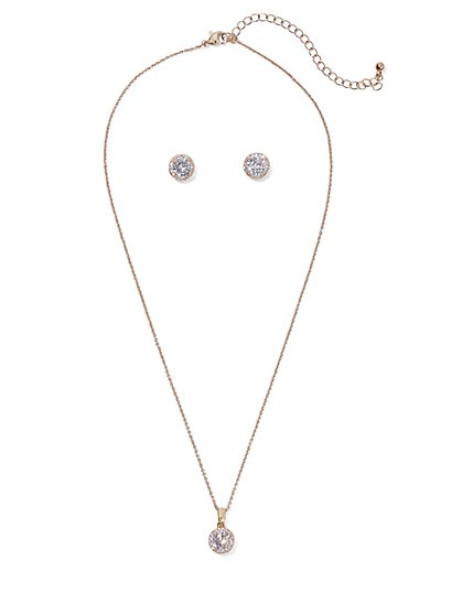 2-Piece Earrings & Necklace Set - New York & Company