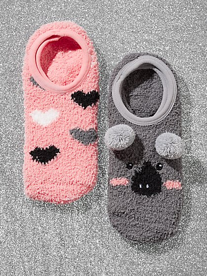 2-Piece Koala Footie Socks Set - New York & Company