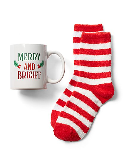 2-Piece Mug & Sock Gift Set - New York & Company